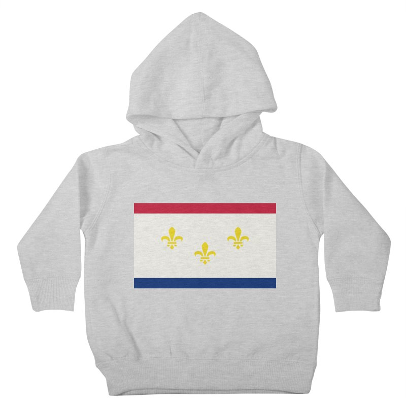 New Orleans City Flag Kids Toddler Pullover Hoody by OR designs