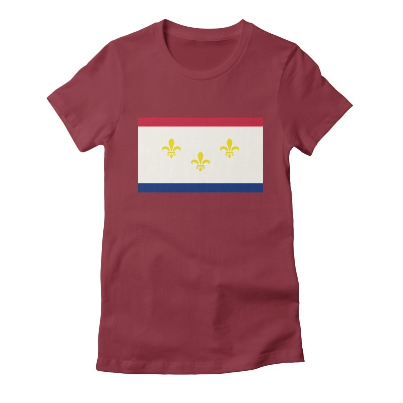 New Orleans City Flag Women's Fitted T-Shirt by OR designs