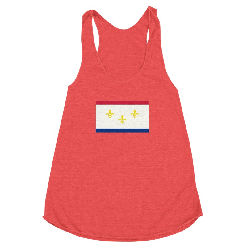 New Orleans City Flag Women's Racerback Triblend Tank by OR designs
