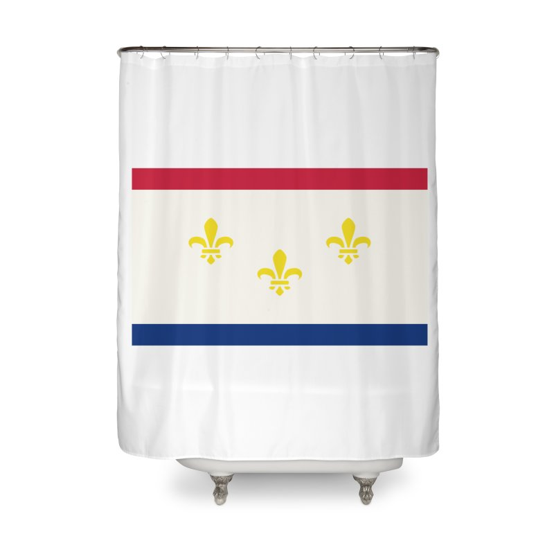 New Orleans City Flag Home Shower Curtain by OR designs