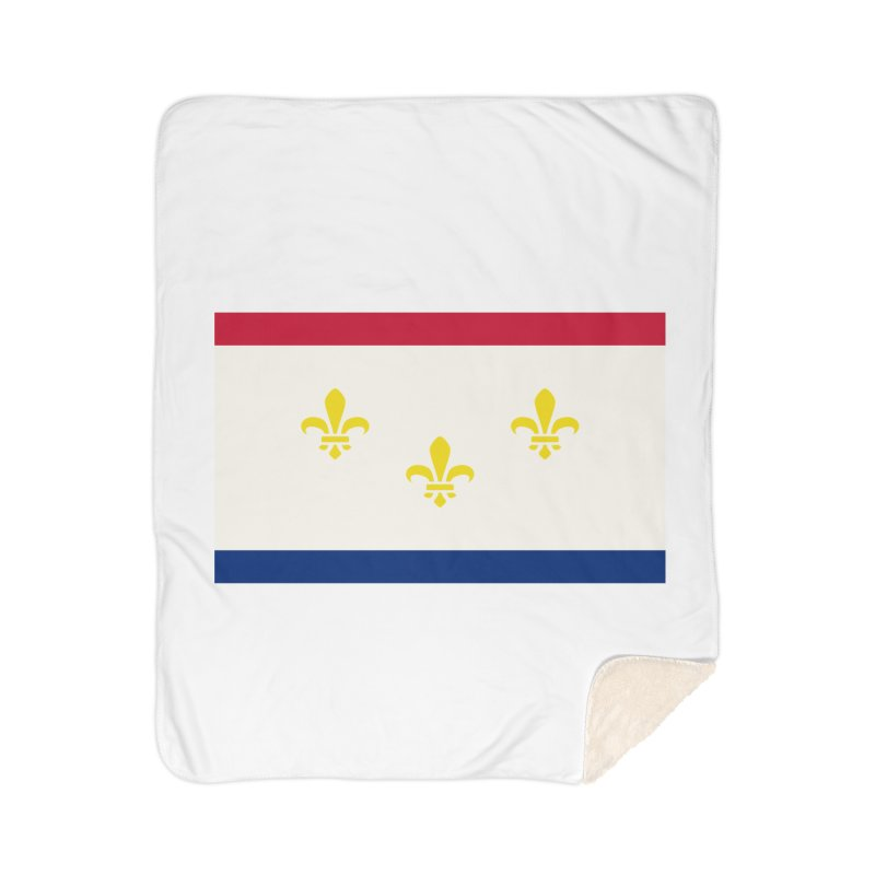 New Orleans City Flag Home Sherpa Blanket Blanket by OR designs