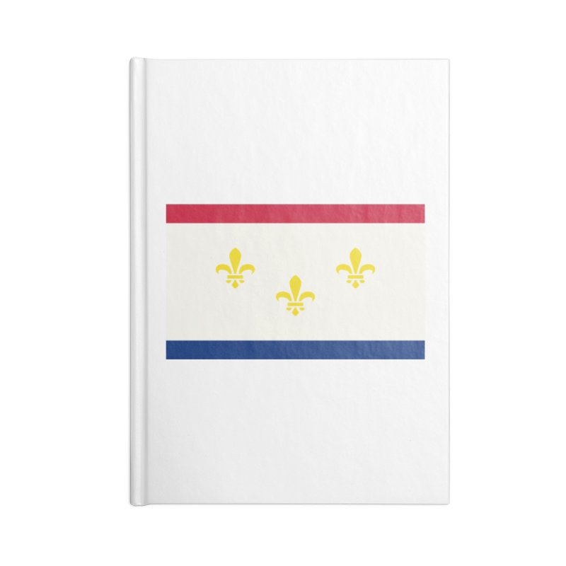 New Orleans City Flag Accessories Lined Journal Notebook by OR designs
