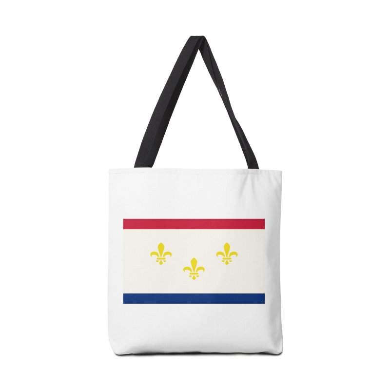 New Orleans City Flag Accessories Tote Bag Bag by OR designs