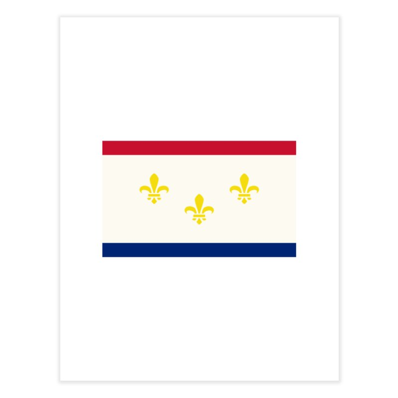 New Orleans City Flag Home Fine Art Print by OR designs
