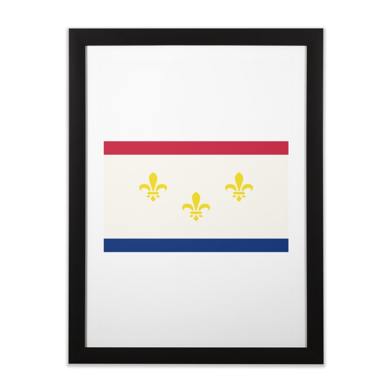 New Orleans City Flag Home Framed Fine Art Print by OR designs
