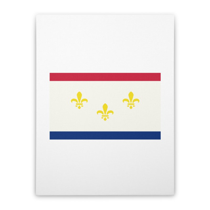 New Orleans City Flag Home Stretched Canvas by OR designs