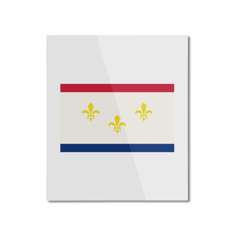 New Orleans City Flag Home Mounted Aluminum Print by OR designs