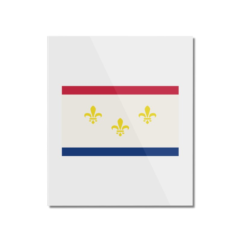 New Orleans City Flag Home Mounted Acrylic Print by OR designs