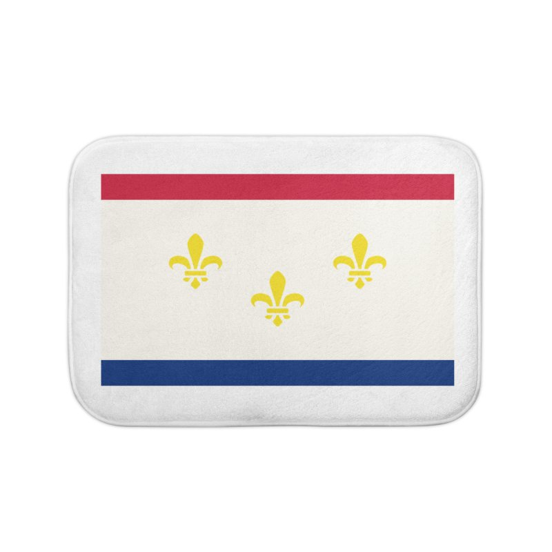 New Orleans City Flag Home Bath Mat by OR designs