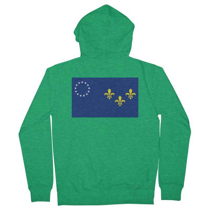 Louisville City Flag Women's French Terry Zip-Up Hoody by OR designs