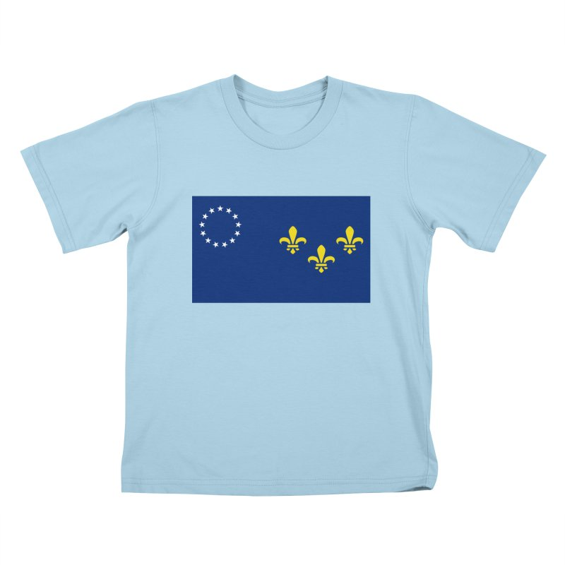 Louisville City Flag Kids T-Shirt by OR designs