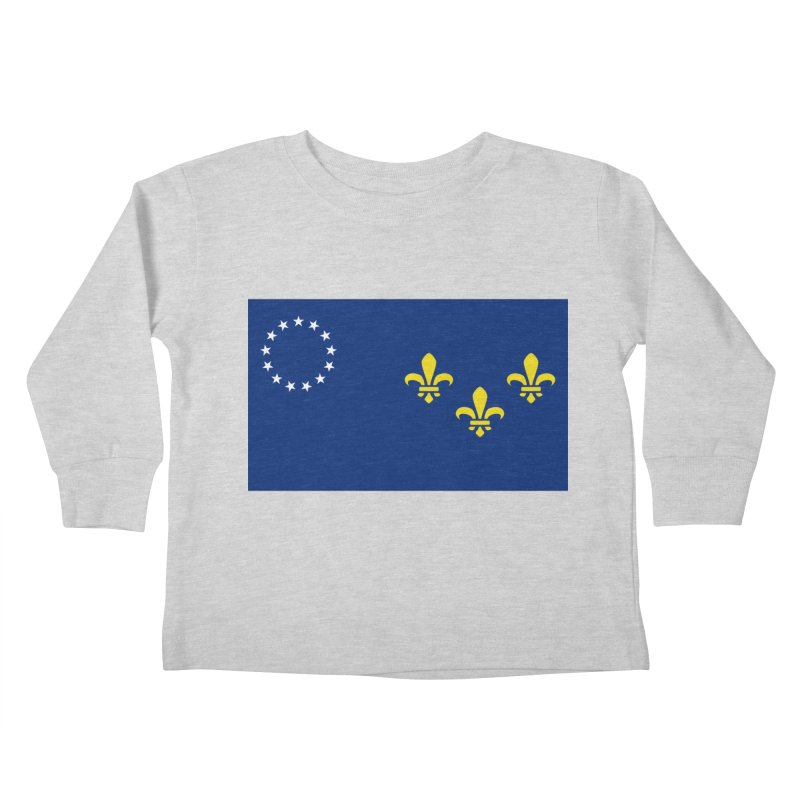 Louisville City Flag Kids Toddler Longsleeve T-Shirt by OR designs
