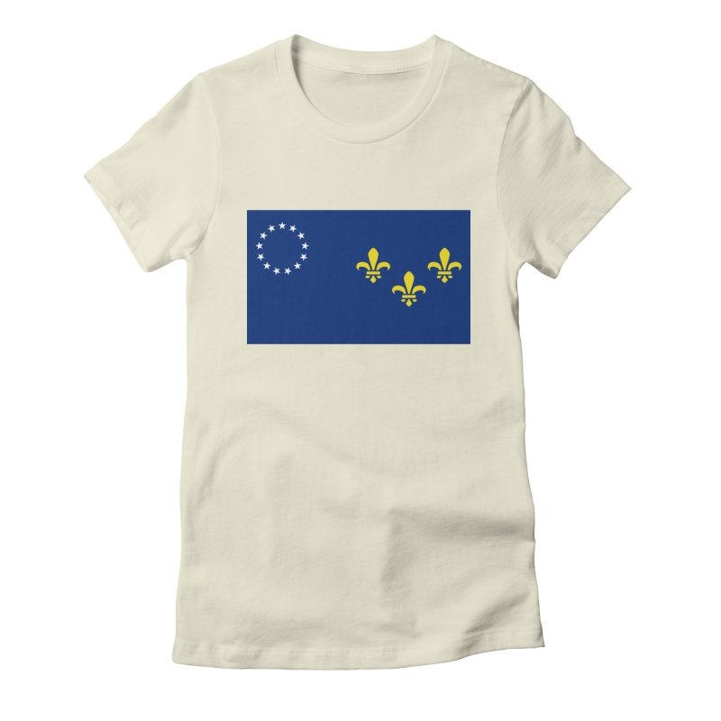 Louisville City Flag Women's Fitted T-Shirt by OR designs