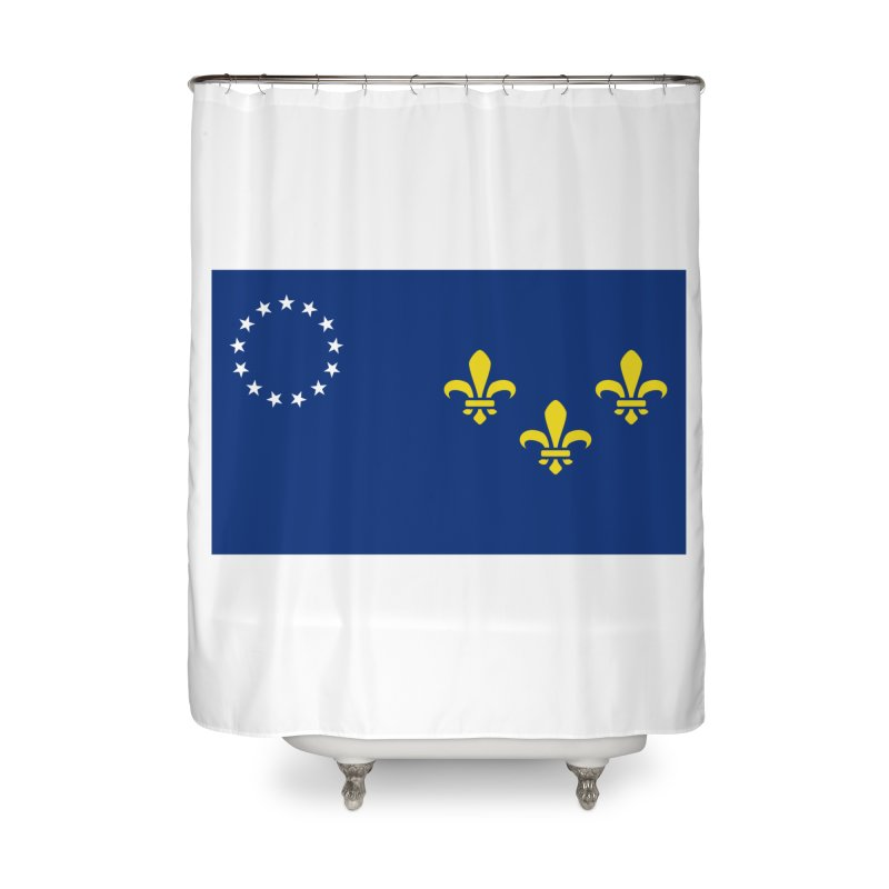 Louisville City Flag Home Shower Curtain by OR designs
