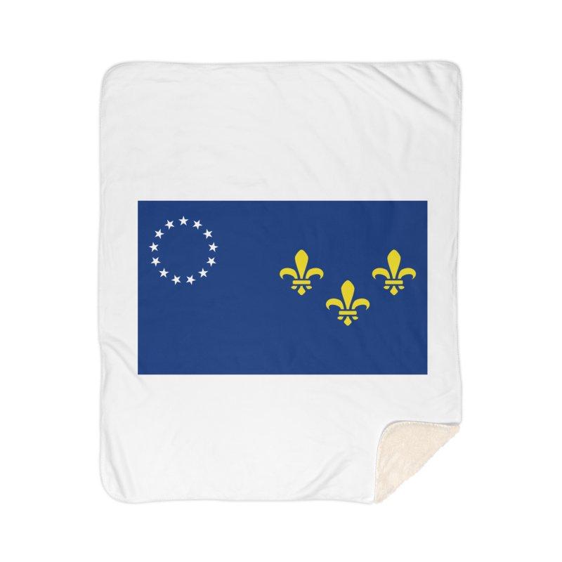 Louisville City Flag Home Sherpa Blanket Blanket by OR designs