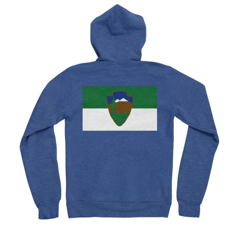National Park Service Flag Women's Sponge Fleece Zip-Up Hoody by OR designs