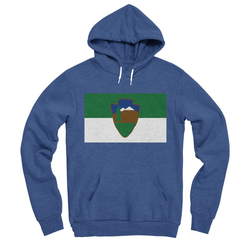National Park Service Flag Women's Sponge Fleece Pullover Hoody by OR designs