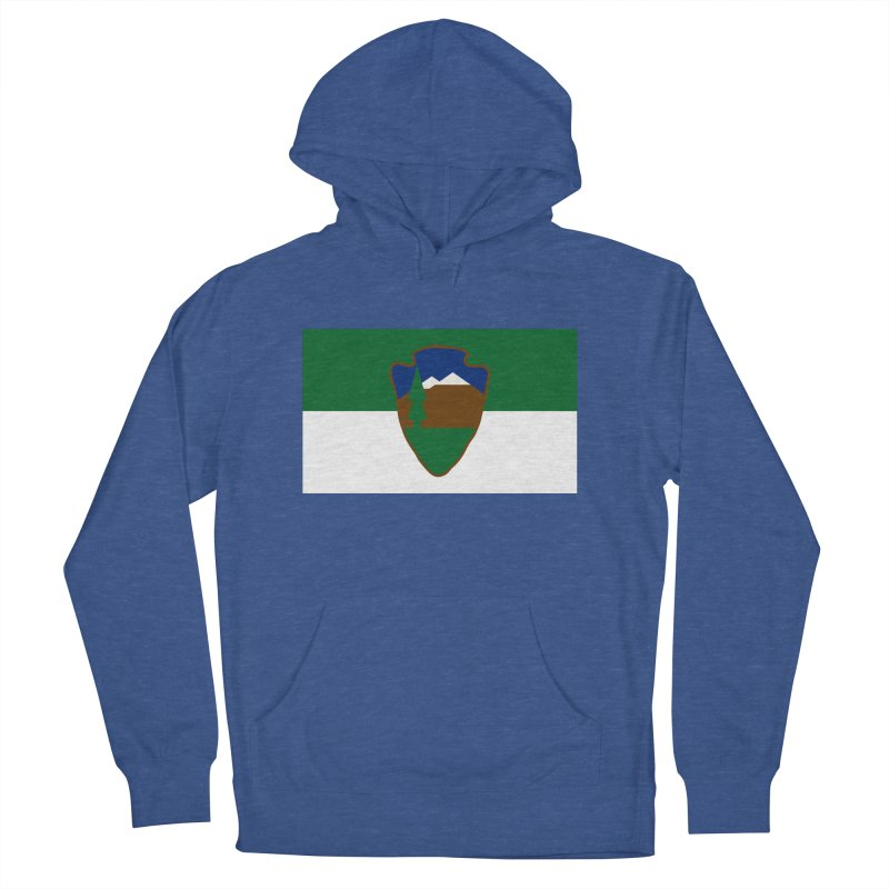 National Park Service Flag Men's French Terry Pullover Hoody by OR designs