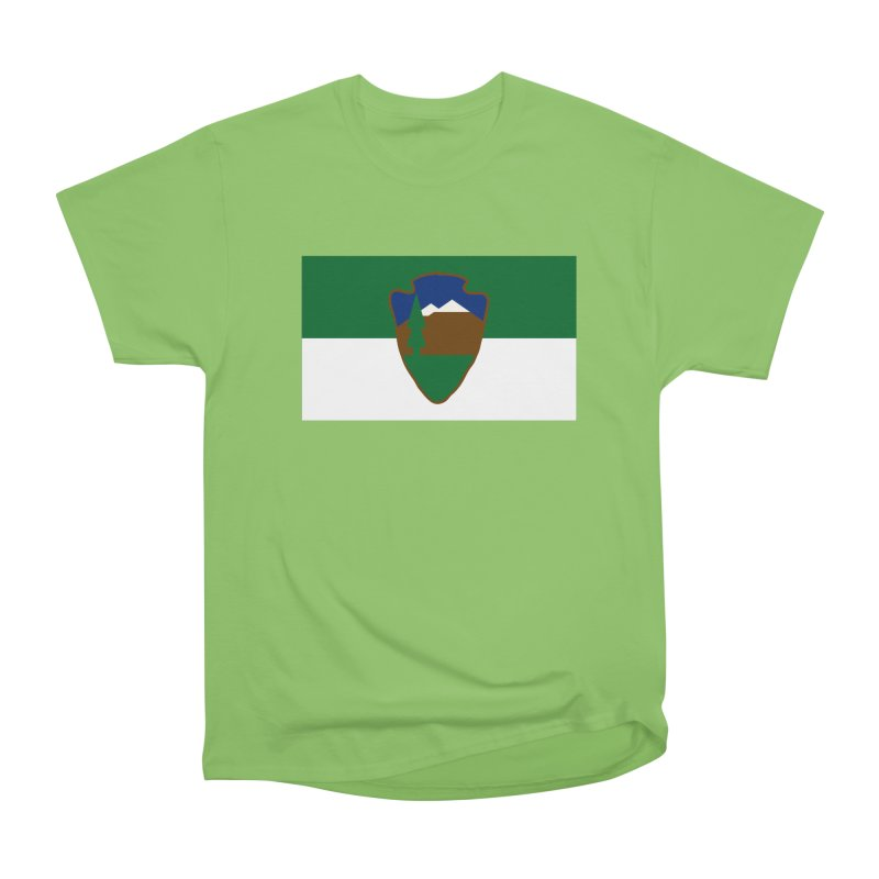 National Park Service Flag Men's Heavyweight T-Shirt by OR designs