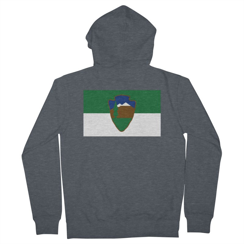 National Park Service Flag Women's French Terry Zip-Up Hoody by OR designs