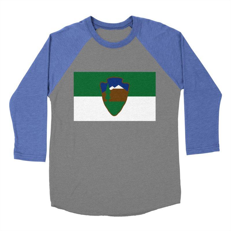 National Park Service Flag Women's Baseball Triblend Longsleeve T-Shirt by OR designs