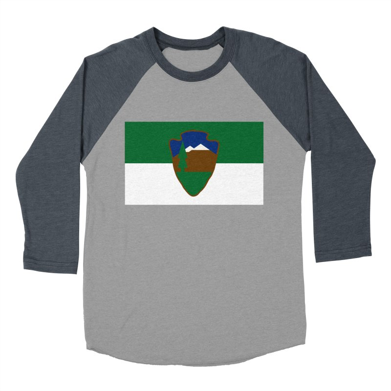 National Park Service Flag Women's Baseball Triblend Longsleeve T-Shirt by OR designs