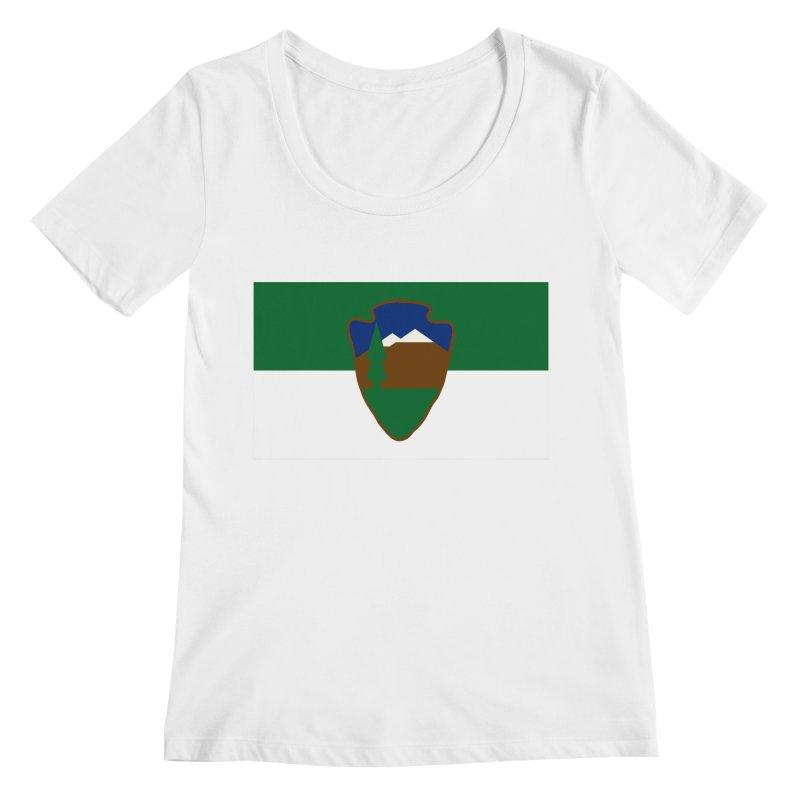National Park Service Flag Women's Regular Scoop Neck by OR designs