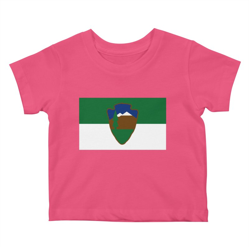 National Park Service Flag Kids Baby T-Shirt by OR designs