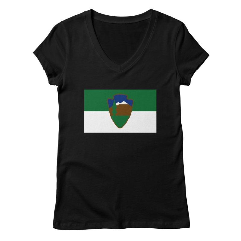 National Park Service Flag Women's V-Neck by OR designs