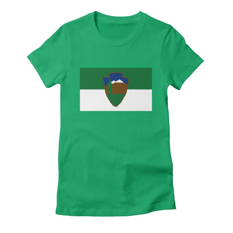 National Park Service Flag Women's T-Shirt by OR designs