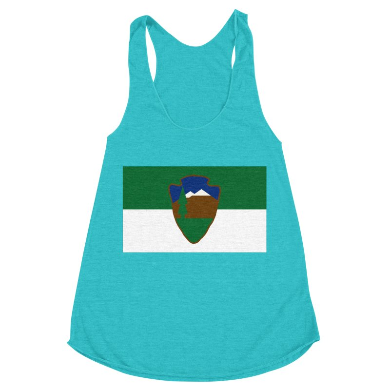 National Park Service Flag Women's Racerback Triblend Tank by OR designs