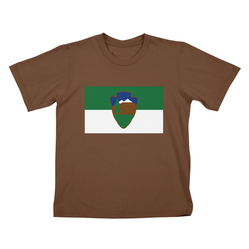 National Park Service Flag Kids T-Shirt by OR designs
