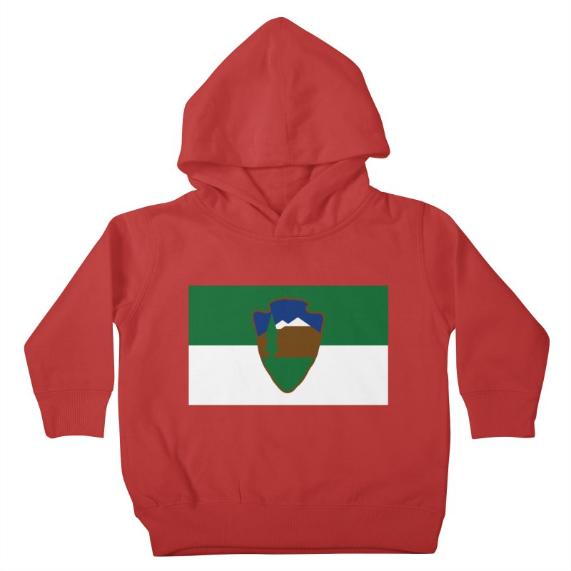 National Park Service Flag Kids Toddler Pullover Hoody by OR designs