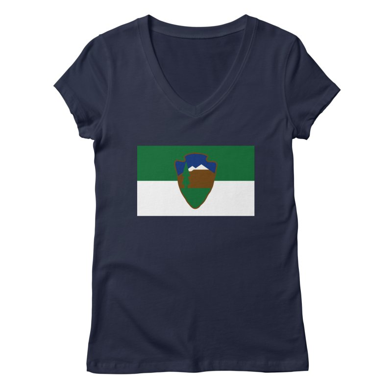 National Park Service Flag Women's Regular V-Neck by OR designs