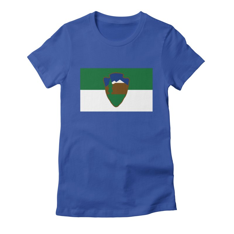 National Park Service Flag Women's Fitted T-Shirt by OR designs