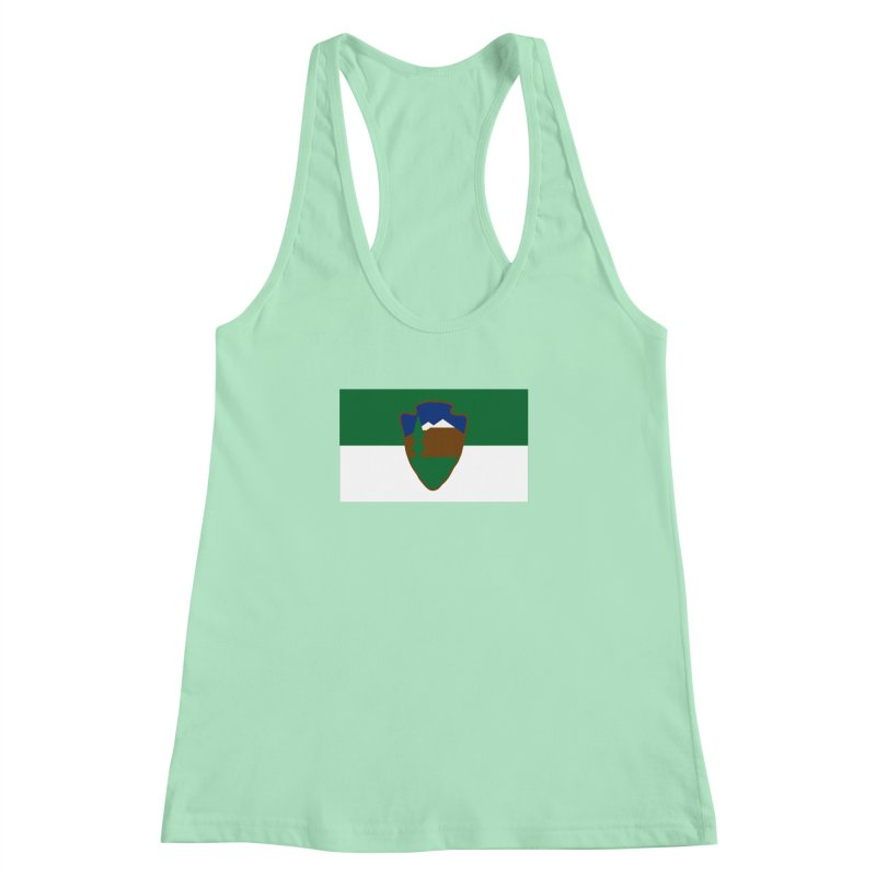 National Park Service Flag Women's Racerback Tank by OR designs