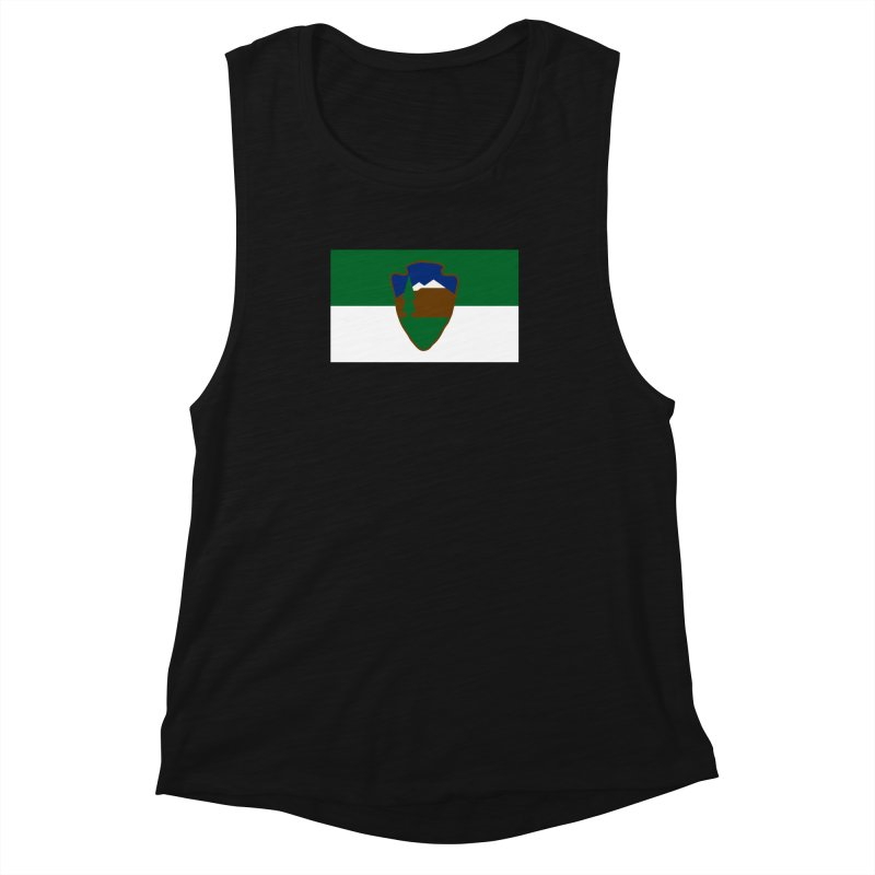 National Park Service Flag Women's Muscle Tank by OR designs