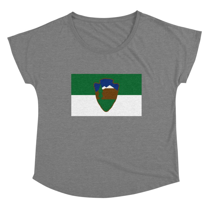 National Park Service Flag Women's Scoop Neck by OR designs