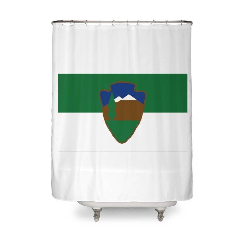 National Park Service Flag Home Shower Curtain by OR designs
