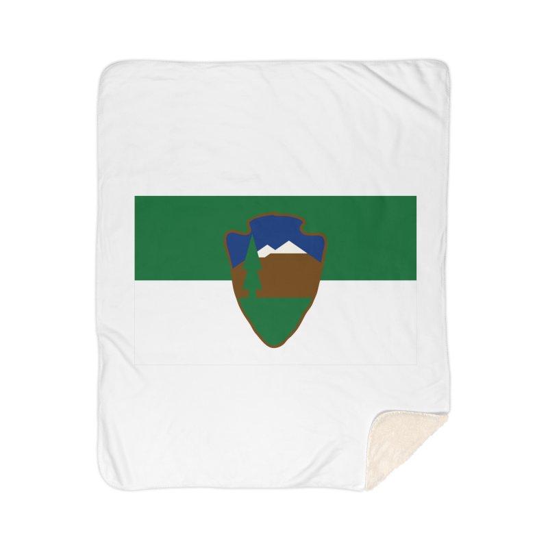 National Park Service Flag Home Sherpa Blanket Blanket by OR designs