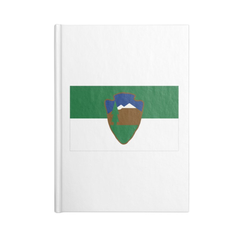 National Park Service Flag Accessories Lined Journal Notebook by OR designs