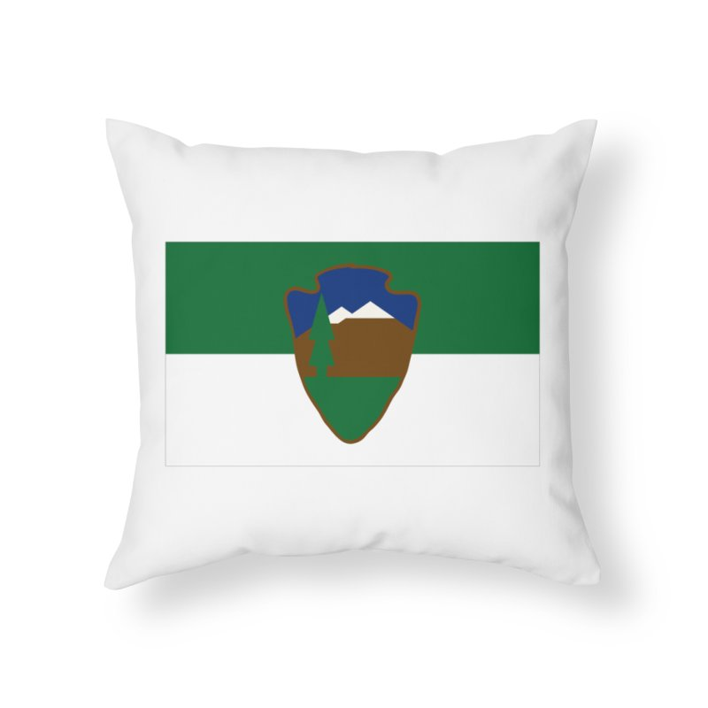 National Park Service Flag Home Throw Pillow by OR designs