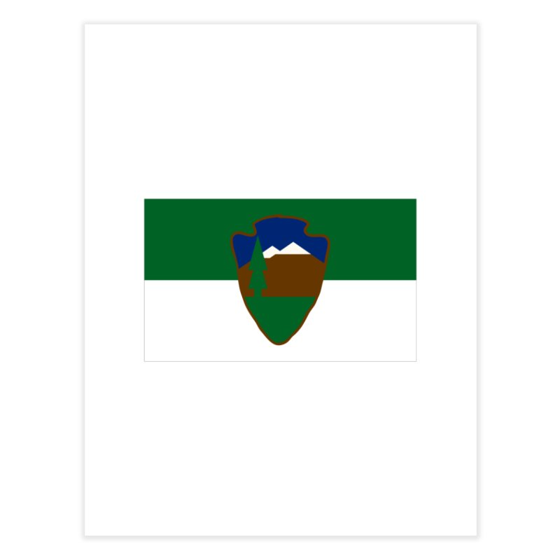 National Park Service Flag Home Fine Art Print by OR designs