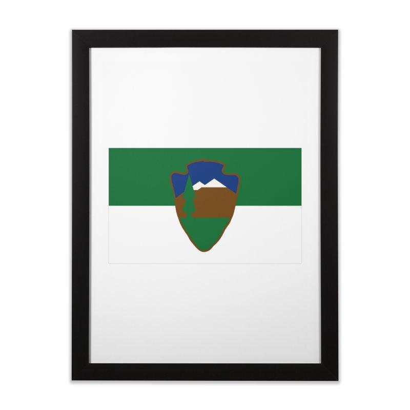 National Park Service Flag Home Framed Fine Art Print by OR designs