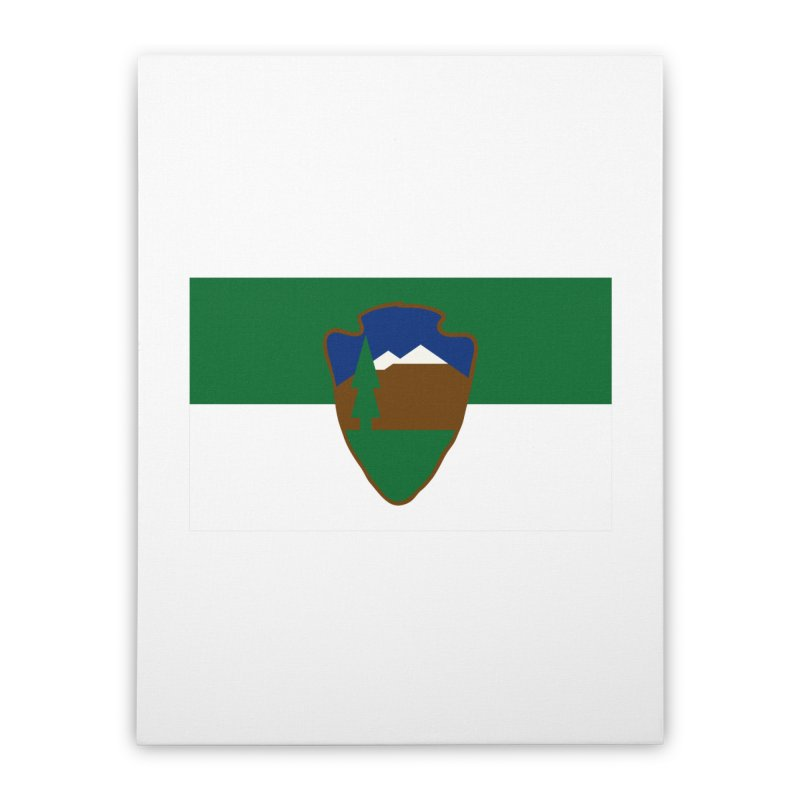 National Park Service Flag Home Stretched Canvas by OR designs