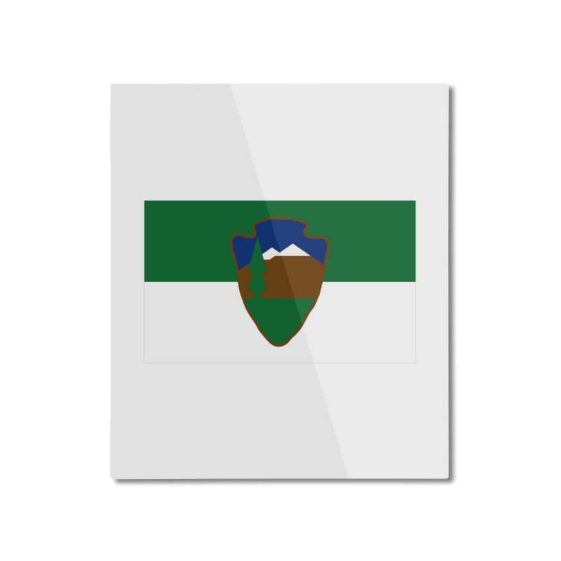 National Park Service Flag Home Mounted Aluminum Print by OR designs