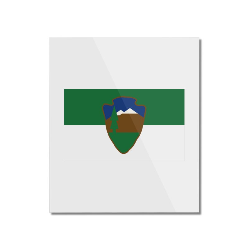 National Park Service Flag Home Mounted Acrylic Print by OR designs