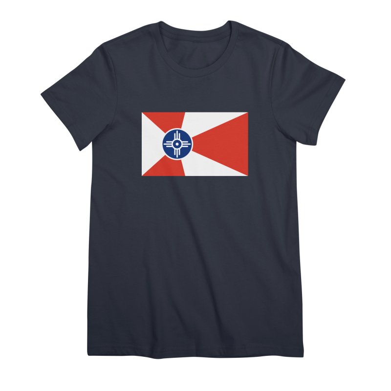 Wichita City Flag Women's Premium T-Shirt by OR designs