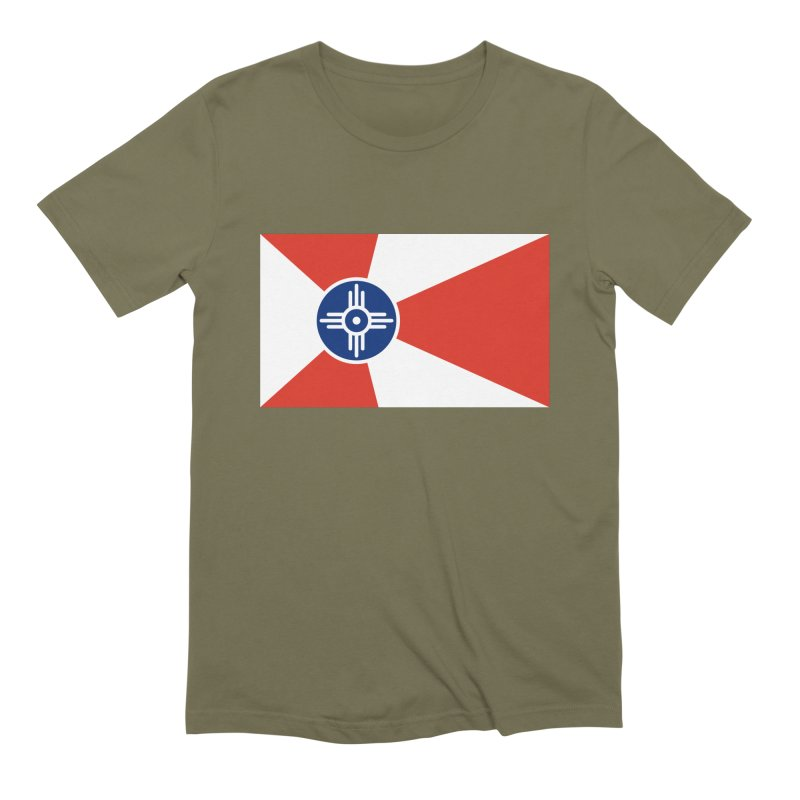 Wichita City Flag Men's Extra Soft T-Shirt by OR designs