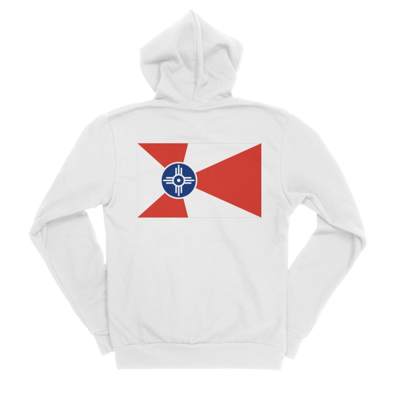 Wichita City Flag Women's Sponge Fleece Zip-Up Hoody by OR designs